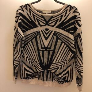 Abstract design sweater